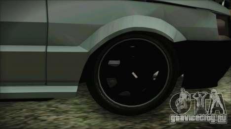 Fiat Uno Fire Tuning для GTA San Andreas вид сзади слева