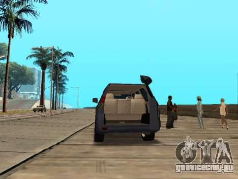 Toyota Land Cruiser Prado для GTA San Andreas вид сзади