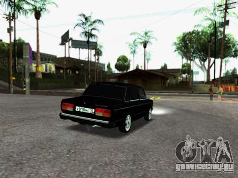 ВАЗ 2107-107 для GTA San Andreas вид сзади слева