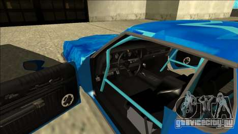 Ford Gran Torino Drift Blue Star для GTA San Andreas вид изнутри