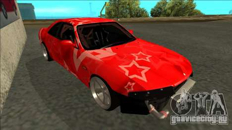 Nissan Skyline R33 Drift Red Star для GTA San Andreas вид слева