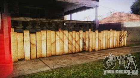 Wooden Fences HQ 1.2 для GTA San Andreas третий скриншот