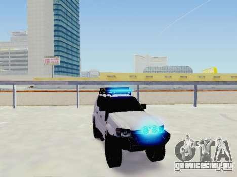 Toyota Land Cruiser Prado off-road LED для GTA San Andreas вид справа