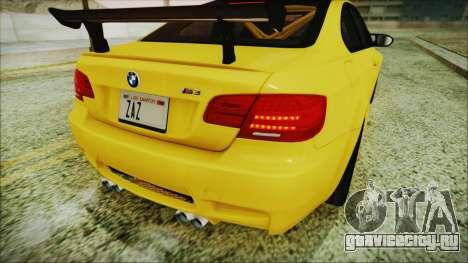 BMW M3 GTS 2011 IVF для GTA San Andreas вид сверху
