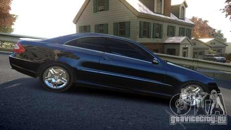 Mercedes CLK55 AMG Coupe 2003 для GTA 4 вид изнутри