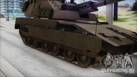 M4 Scorcher Self Propelled Artillery для GTA San Andreas вид сзади слева