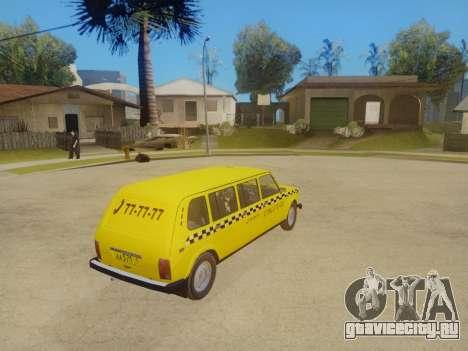 ВАЗ 2131 7-Дверное Такси для GTA San Andreas вид изнутри