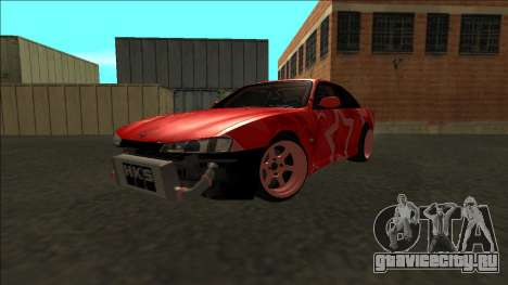 Nissan Silvia S14 Drift Red Star для GTA San Andreas вид сбоку
