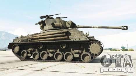M4A3E8 Sherman Fury для GTA 5 вид сзади справа