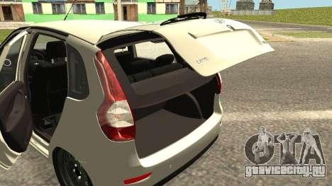 Lada Kalina 2 - Granta для GTA San Andreas вид изнутри