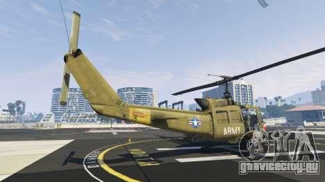 Bell UH-1D Iroquois Huey Gunship для GTA 5 третий скриншот