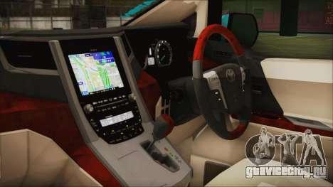 Toyota Alphard Hatsune Miku для GTA San Andreas вид справа