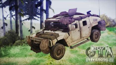 Humvee from Spec Ops The Line для GTA San Andreas вид справа