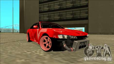 Nissan Silvia S14 Drift Red Star для GTA San Andreas вид сзади слева