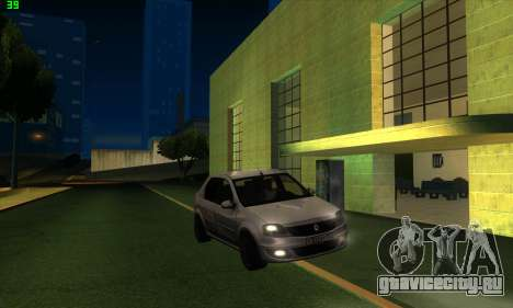 Renault Logan для GTA San Andreas вид справа