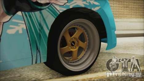 Toyota Alphard Hatsune Miku для GTA San Andreas вид сзади слева
