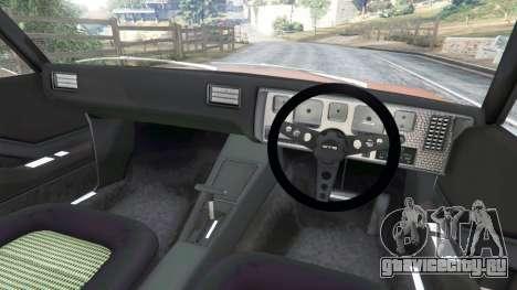 Holden Monaro GTS для GTA 5 вид сзади справа