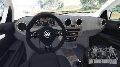 Volkswagen Saveiro G6 Cross для GTA 5 вид сзади справа