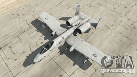 Fairchild Republic A-10A Thunderbolt II v1.2 для GTA 5 четвертый скриншот