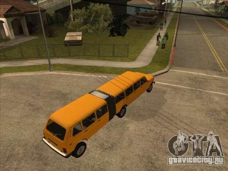 Прицеп к ВАЗ 2131 Гипер для GTA San Andreas вид сзади слева