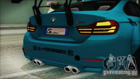 BMW M4 2014 Liberty Walk для GTA San Andreas вид сбоку