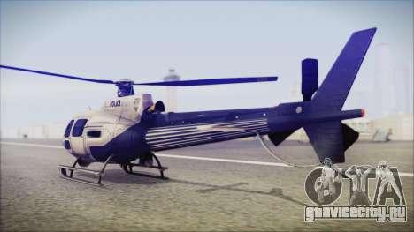 Batman Arkham Knight Police-Swat Helicopter для GTA San Andreas вид слева