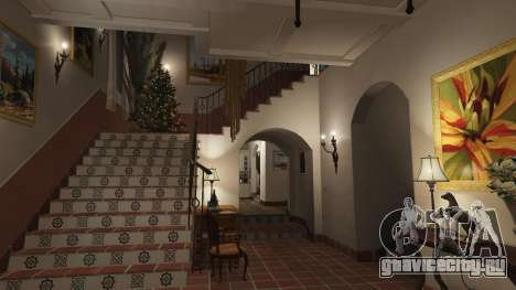 Новогодние украшения для дома Майкла для GTA 5 седьмой скриншот