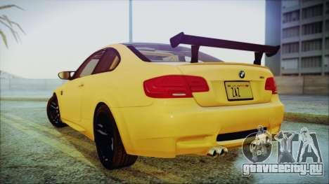 BMW M3 GTS 2011 IVF для GTA San Andreas вид сзади слева
