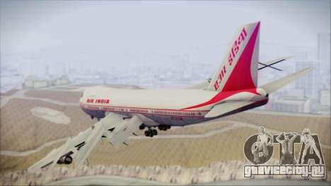 Boeing 747-237Bs Air India Mahendra Verman для GTA San Andreas вид слева