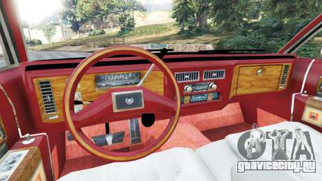 Cadillac Fleetwood 1985 Limousine [Beta] для GTA 5 вид сзади справа