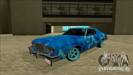 Ford Gran Torino Drift Blue Star для GTA San Andreas вид сзади слева