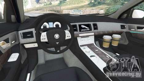 Jaguar XFR 2010 для GTA 5 вид сзади справа