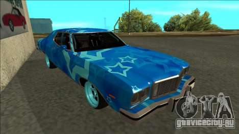 Ford Gran Torino Drift Blue Star для GTA San Andreas вид слева