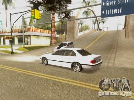 BMW 750i для GTA San Andreas вид снизу
