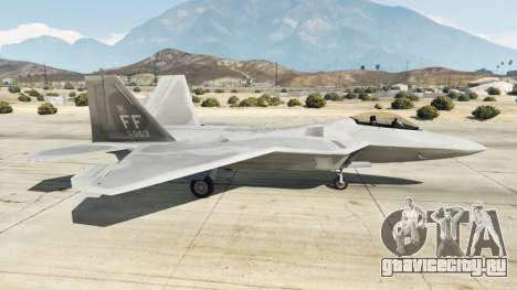 Lockheed Martin F-22 Raptor для GTA 5 второй скриншот