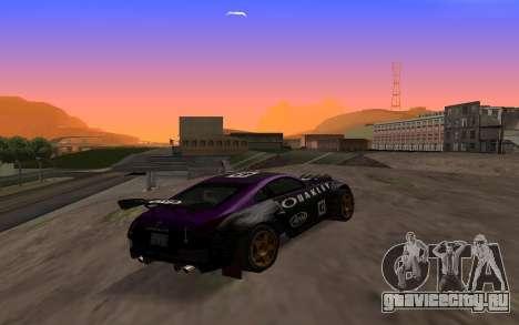 Nissan 350Z Rally для GTA San Andreas вид справа
