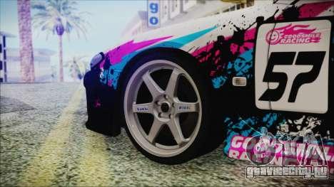 Nissan Silvia S15 Itasha Beta для GTA San Andreas вид сзади слева