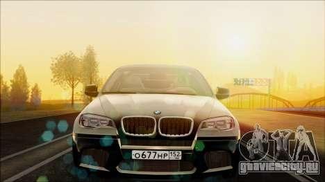 BMW X6M для GTA San Andreas вид справа