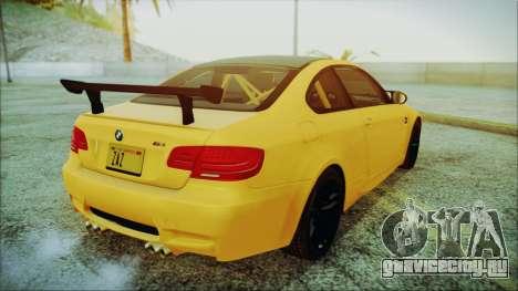 BMW M3 GTS 2011 IVF для GTA San Andreas вид слева