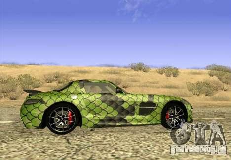 Mercedes-Benz SLS AMG Snake для GTA San Andreas вид слева