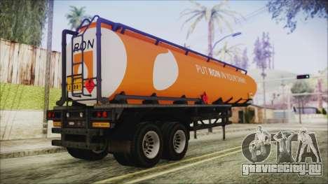 GTA 5 RON Tanker Trailer для GTA San Andreas вид слева