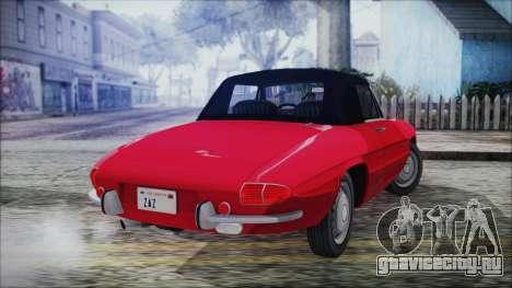 Alfa Romeo Spider Duetto 1966 для GTA San Andreas вид слева