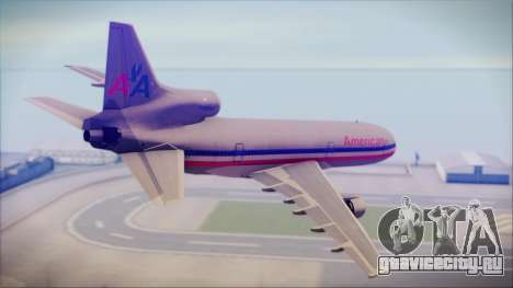 Lockheed L-1011 Tristar American Airlines для GTA San Andreas вид слева