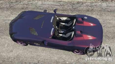 Mercedes-Benz SLR McLaren Stirling Moss для GTA 5 вид сзади