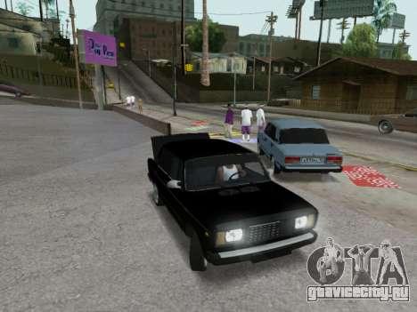 ВАЗ 2107-107 для GTA San Andreas вид сверху