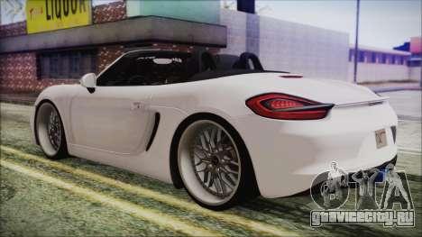 Porsche Boxster GTS 2016 для GTA San Andreas вид слева