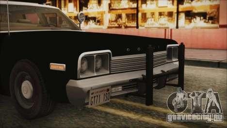 Dodge Monaco 1974 LSPD IVF для GTA San Andreas вид сбоку