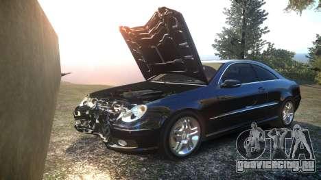 Mercedes CLK55 AMG Coupe 2003 для GTA 4 вид снизу