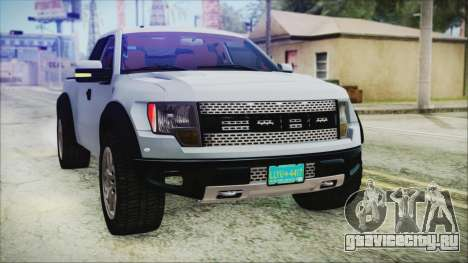 Ford F-150 SVT Raptor 2012 Stock Version для GTA San Andreas вид сверху