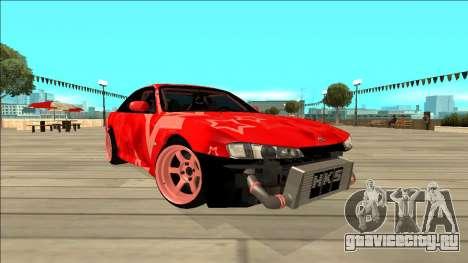 Nissan Silvia S14 Drift Red Star для GTA San Andreas вид изнутри